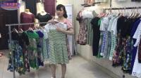 【成都萬客來服飾】特價中老年夏款短袖連衣裙,適合甩賣模式和花車特價
