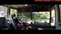 實拍:駕駛大型客車駛出停車場,看看老司機是怎樣駕駛大巴車的