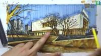 建筑馬克筆圖片寫生 4