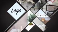 創意個性時尚圖片照片墻匯聚Logo開場廣告宣傳片頭片尾 AE模板