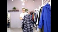 北京靚芭莎品牌女裝折扣批發 秋冬新款大衣 雙面尼女裝尾貨庫存混批