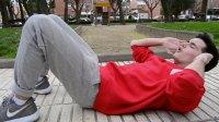 SPHJ-151-健身-公園戶外運動男士身穿運動服健身鍛煉仰臥起坐人物生活高清視頻實拍