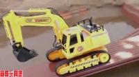 工程挖掘機 推土機 裝載機運輸表演視頻 消防車 汽車玩具大全009